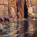 Breck John Leslie The Cliffs at Ironbound Island Maine, American artists