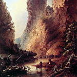 Deer by the River Wyoming, American artists