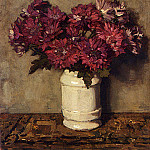 American artists - Akkeringa Johannes Evert Chrysanthemums In A Vase