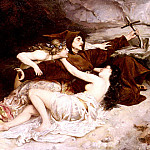 American artists - Leloir Alexandre Louis The Temptation Of Saint Anthony