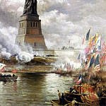 American artists - Moran Edward Unveiling The Statue of Liberty 1886