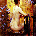 Wiles Irving Ramsay Seated Nude, American artists