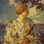 woman by the sea, American artists