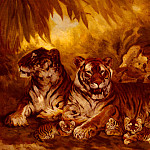 American artists - Drake William Henry Masters Of The Jungle
