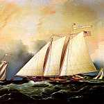 American artists - Buttersworth James E Under Full Sail
