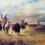 Indian Buffalo Hunt, American artists