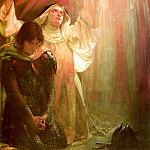 American artists - Goetze Sigismund The Vision Of Sir Percivales Sister