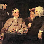 HIGHMORE Joseph Mr Oldham And His Friends, American artists