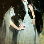 Wiles Irving Ramsay Portrait Of Mrs Edward W Redfield, American artists