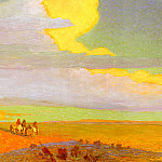 Berninghaus Oscar E Traveling North At Sunrise, American artists