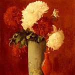 American artists - Carlsen Emil Vases And Flowers