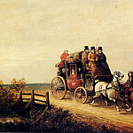 American artists - Hendreson Charles Cooper The London To Brighton Royal Mail On The Open Road