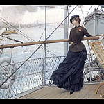 American artists - A Scottish Lady On A Boat Arriving In New York