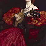 Abbey Edwin Austin A Lute Player, American artists