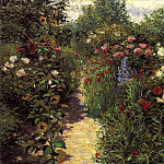 Breck John Leslie Garden at Giverny, American artists