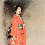 American artists - Blum Robert Frederick A Japanese Woman