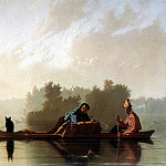 American artists - BINGHAM George Calec Fur Traders Descending The Missouri