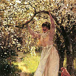 American artists - Hamilton Hamilton Falling Apple Blossoms
