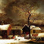 Winter Scene in New Haven, American artists