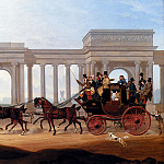 American artists - Boughton Henry The Defiance Coach At Hyde Park Corner