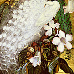 Botke Jessie Arms White And Blue Peacocks, American artists