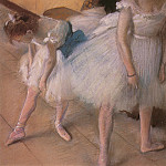 Edgar Degas - Before the Rehearsal