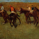Edgar Degas - At the Races Before the Start