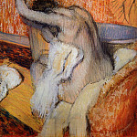 Edgar Degas - After the Bath Woman Drying Herself