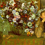 Edgar Degas - Madame Valpincon with Chrysanthemums CGF