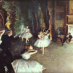 Edgar Degas - Rehearsal on the Stage