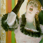 singer with glove, Edgar Degas