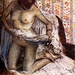 After The Bath , Edgar Degas