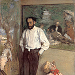 Edgar Degas - Portrait of the Painter Henri Michel Levy
