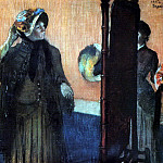 At the Milliners, Edgar Degas