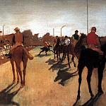 Racehorses in Front of the Grandstand CGF, Edgar Degas