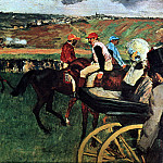 At the Races, Edgar Degas