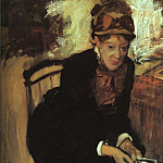 Portrait of Mary Cassatt , Edgar Degas