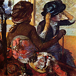 At the Milliner's 2, Edgar Degas