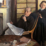 Edgar Degas - Henri De Gas and His Neice Lucie Degas
