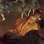 Ballerina and Lady with a Fan, Edgar Degas