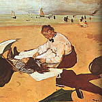 At the Beach, Edgar Degas