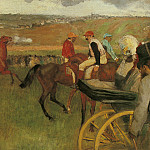 At the Races Gentlemen Jockeys, Edgar Degas