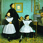 Belleli Family, Edgar Degas