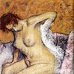 After The Bath, Edgar Degas