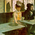 In a Cafe The Absinthe Drinker, Edgar Degas
