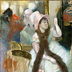 Portrait after a Costume Ball Portrait of Madame Dietz-Monnin CGF, Edgar Degas