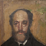 Edgar Degas - Portrait of the Art Critic Durand-Gréville