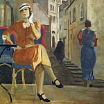 Alexander Deyneka - 1935 Paris. Cafe. Canvas, tempera. 128x100 GRM (Kursk q)
