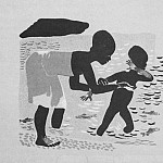 Alexander Deyneka - 1929 Why Janie ran away and returned. Fig. from railway. Spark (1929. № 4)