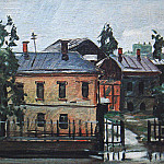 1925 Kursk. After the Rain. Oil on canvas. 37, 5x44, 6 Kursk, Alexander Deyneka